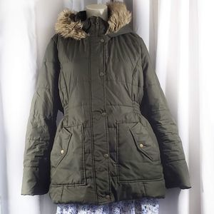 Krush Fur Lined Hooded Jacket Size XXL